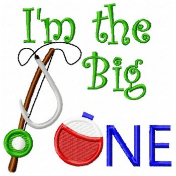 The big one machine embroidery design for instant download