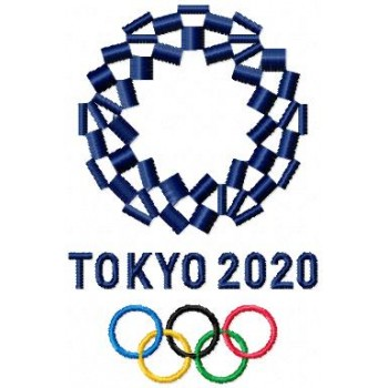 Logo Olympic games Tokyo 2020 machine embroidery design for instant download