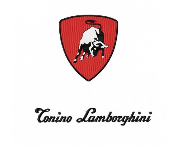 Tonino Lamborghini Logo Machine Embroidery Design For Instant Download