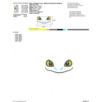 Toothless aplique machine embroidery design for instant download