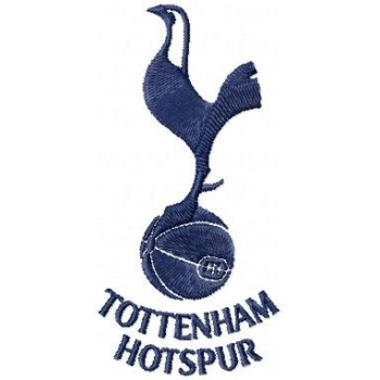 Tottenham Hotspur FC logo machine embroidery design for instant download