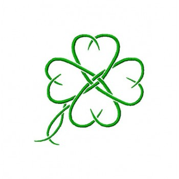 Clover aplique & full stich Machine Embroidery Design for instant download