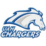 UAH Chargers logo machine embroidery design for instant download