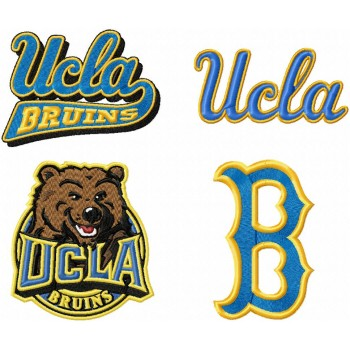 UCLA Bruins logos machine embroidery design for instant download