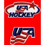 USA Hockey team logos machine embroidery design for instant download