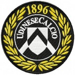 Udinese Calcio logo machine embroidery design for instant download