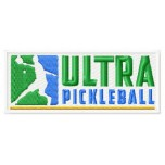 Ultra Pickleball logo machine embroidery design for instant download