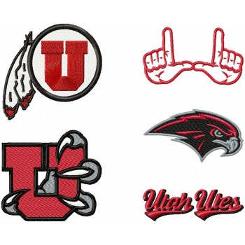 Utah Utes logo machine embroidery design for instant download