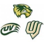 Utah Valley Wolverines logo machine embroidery design for instant download
