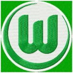 VFL Wolfsburg logo machine embroidery design for instant download