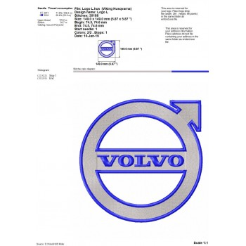 VOLVO logo machine embroidery design for instant download