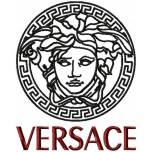 VERSACE logo machine embroidery design for instant download