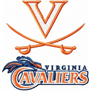 Virginia Cavaliers logos machine embroidery design for instant download