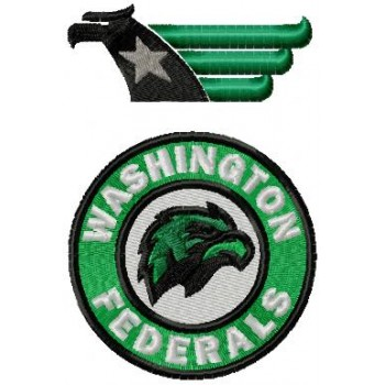 Washington Federals logo machine embroidery design for instant download