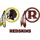 Washington Redskins logo machine embroidery design for instant download