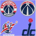 Washington Wizards logo machine embroidery designs for instant download
