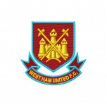 West Ham FC logo machine embroidery design for instant download