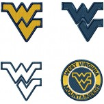 West Virginia Mountaineers logo machine embroidery design for instant download