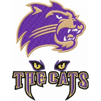 Western Carolina Catamounts logos machine embroidery design for instant download