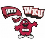 Western Kentucky Hilltoppers logos machine embroidery design for instant download