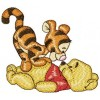 Winnie Pooh and Tiger machine embroidery design for instant download