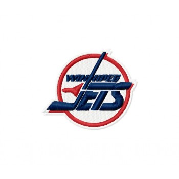 Winnipeg Jets 2 Logos Machine Embroidery design for instant download