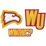 Winthrop Eagles logos machine embroidery design for instant download