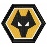 Wolverhampton Wanderers F.C. logo machine embroidery design for instant download