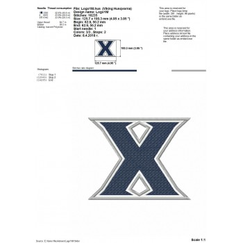 Xavier Musketeers 5 logos machine embroidery design for instant download