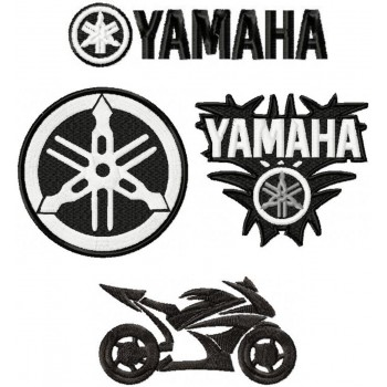 Yamaha logo machine embroidery design for instant download