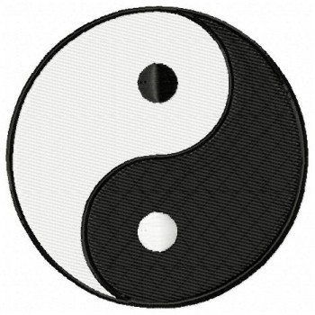Yin and Yang machine embroidery design for instant download