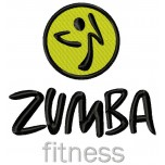 Zumba Fitness logo machine embroidery design for instant download