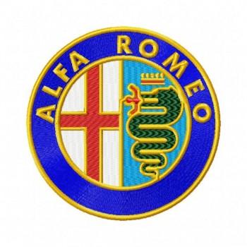 Alfa Romeo logo machine embroidery designs for instant download