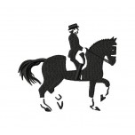 Horse Dressage machine embroidery design in 5 sizes for instant download
