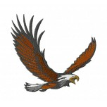 Eagle in flight Machine Embroidery Design