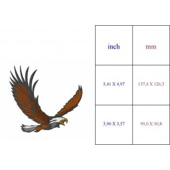 Eagle in flight Machine Embroidery Design