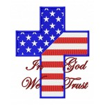 In Got We Trust machine embroidery design for instant download in 4 size