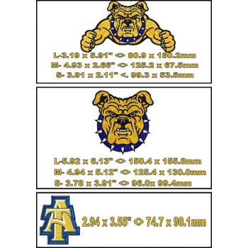 NC A and T Aggies logo machine embroidery design for instant download